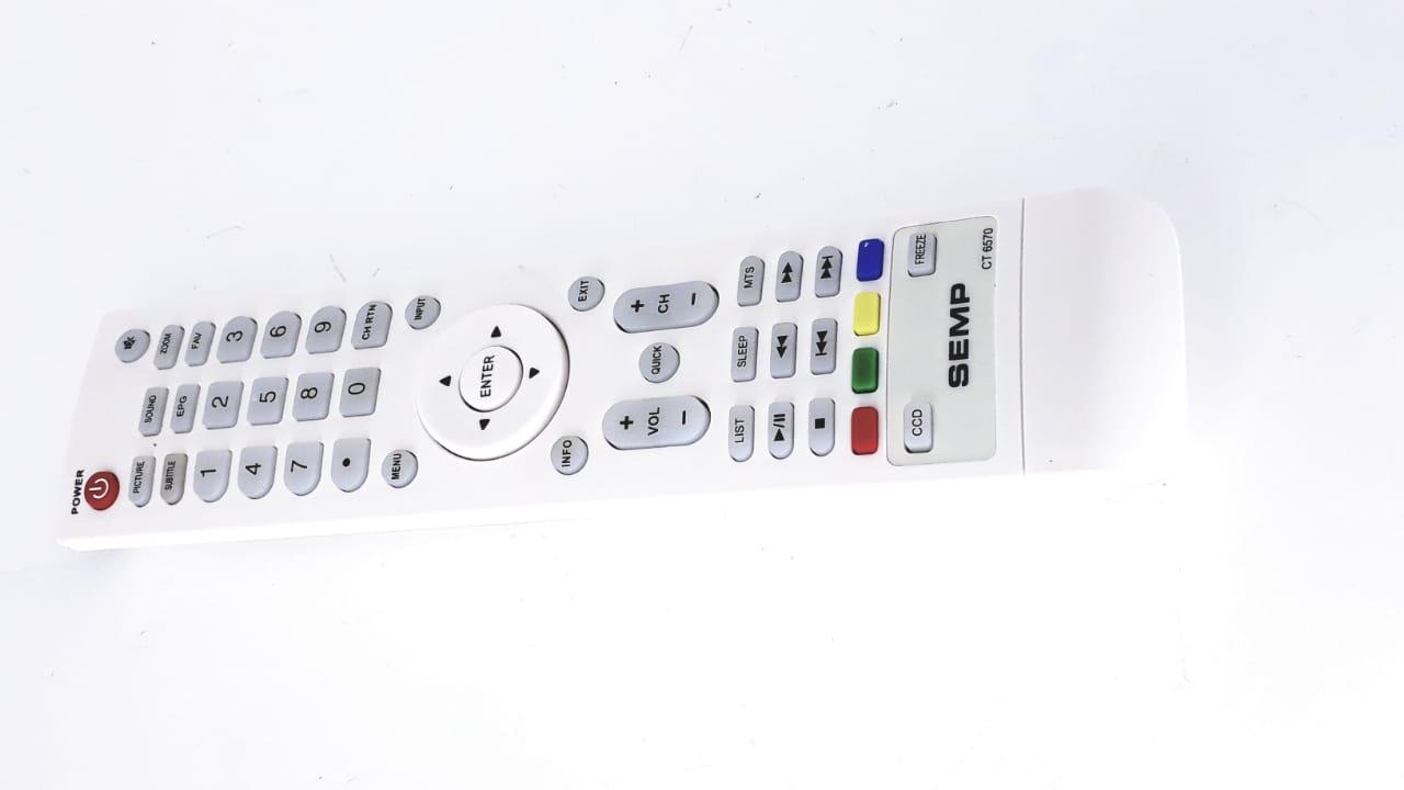 Controle Remoto  CT6570 para Tv modelo LE1474(A) AC/DC  da marca Semp Toshiba Original