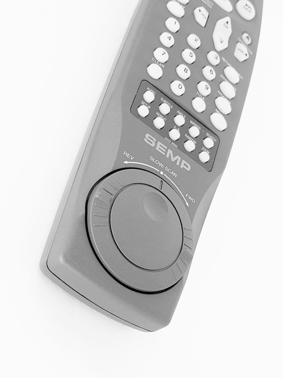 Controle Remoto Dvd Semp Toshiba Dvd 3040 Novo Cinza