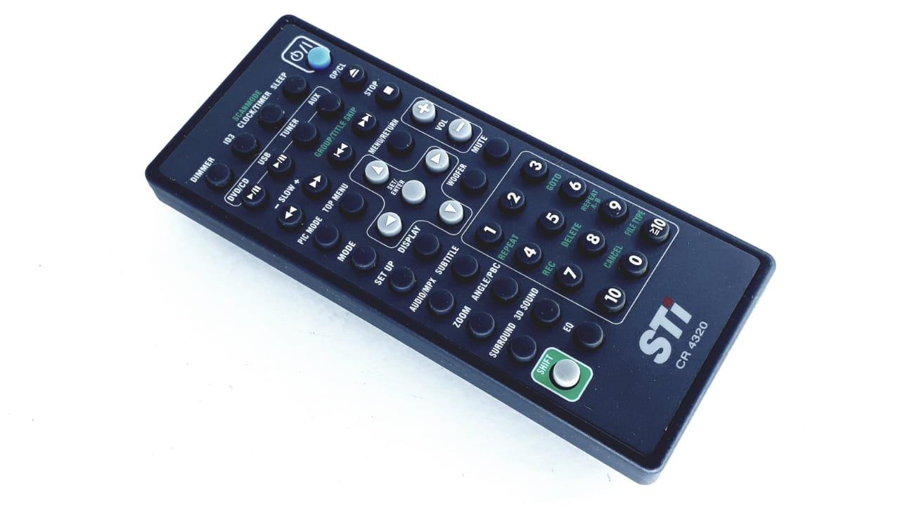 Controle remoto para Micro System da marca Semp Toshiba XB857  modelo CR 4320
