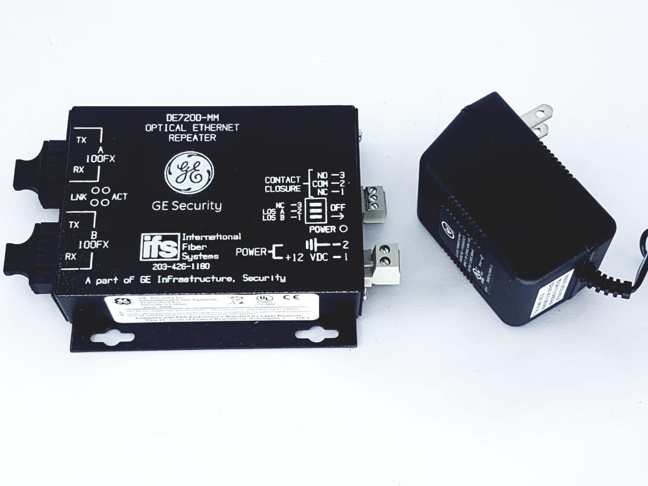 GE Security DE7200-MM Optical Ethernet Novo