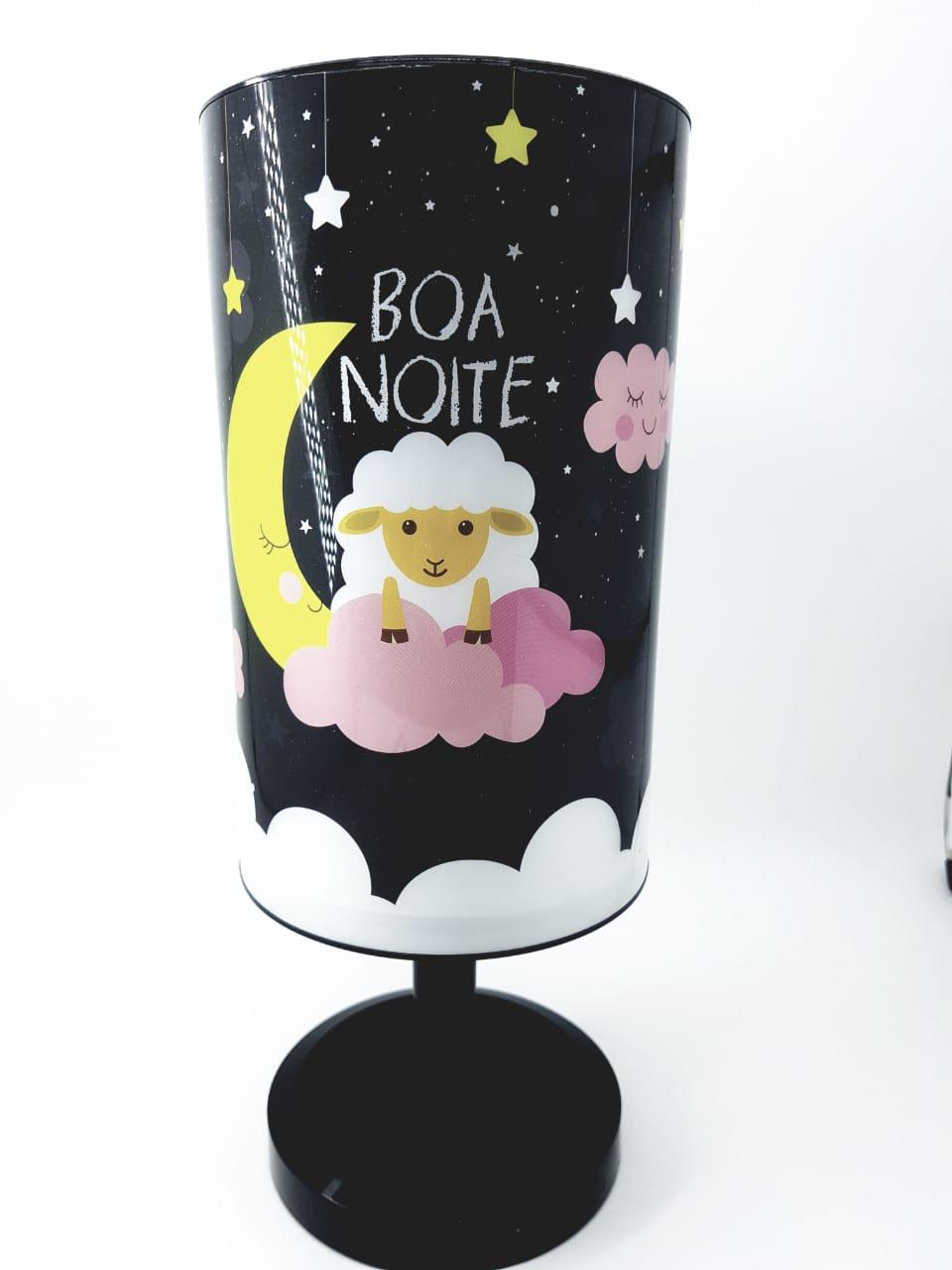 Luminária de mesa Infantil Abajur Criança Nuvem Rosa Menina