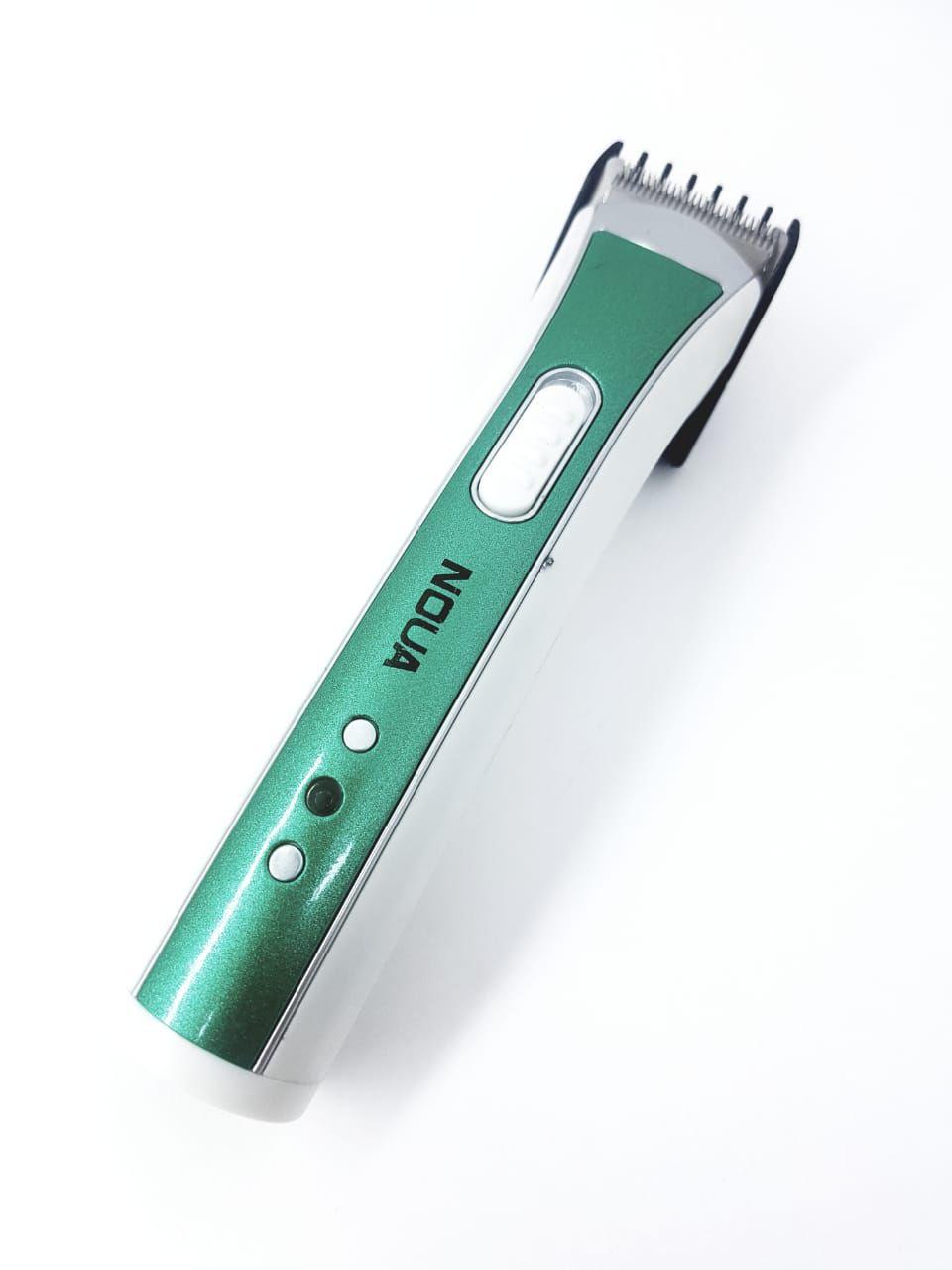 Máquina Noua Corta Cabelo Fazer Barba Pezinho recarregável Verde