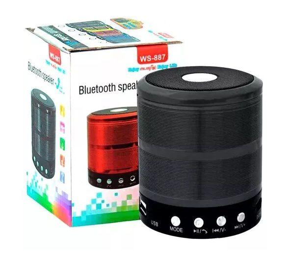 Mini Caixa Caixinha de Som Portátil Bluetooth Mp3 Usb Aux