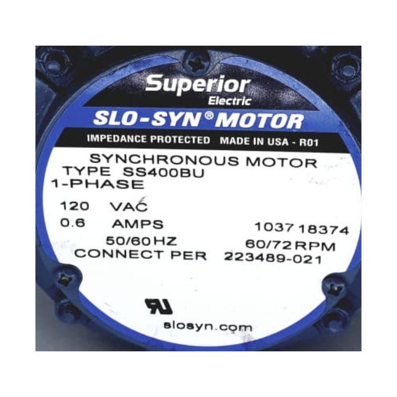 Motor Synchronour tipo Ss400Bu Superior Eletric 120 vac