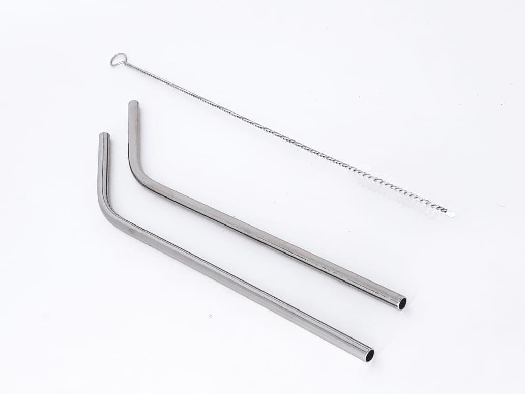 2 peças canudos de alumínio reutilizável sustentável lavável