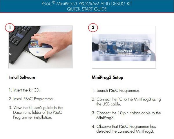 Pcs x CY8CKIT 1 002 Programadores-Processador Baseado PSoC Miniprog3 Kit para PSoC 1, 3, 5 CY8CKIT-002