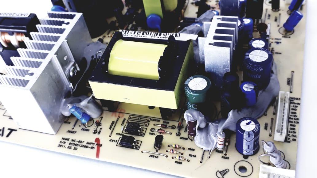 Placa da fonte para Micro System Semp Toshiba modelo MSX857 - SRT Original