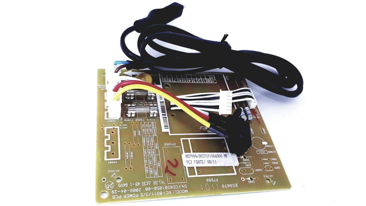 Placa da fonte para Mini System Semp Toshiba modelo MS7904 com cabo de energia