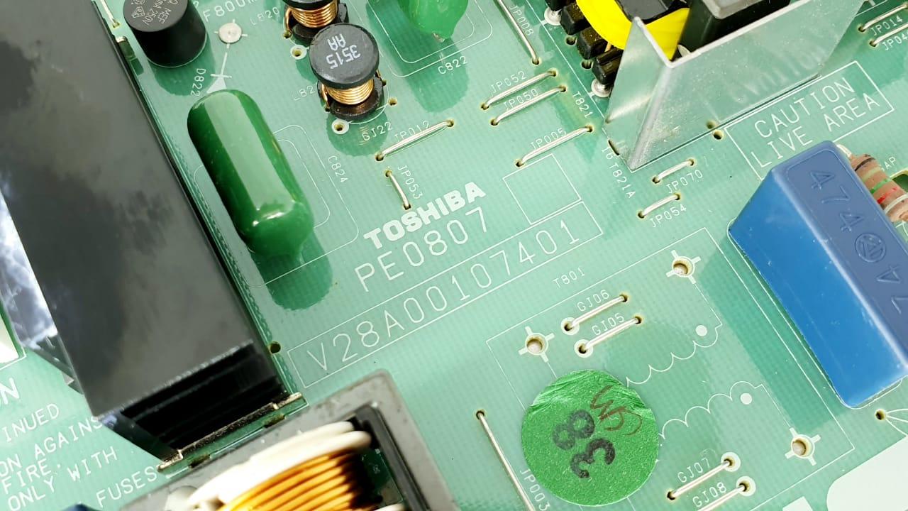 Placa da fonte para TV Semp Toshiba modelo LC3247 V28A00107401 PE0807 32 polegadas  LCD 32XV600