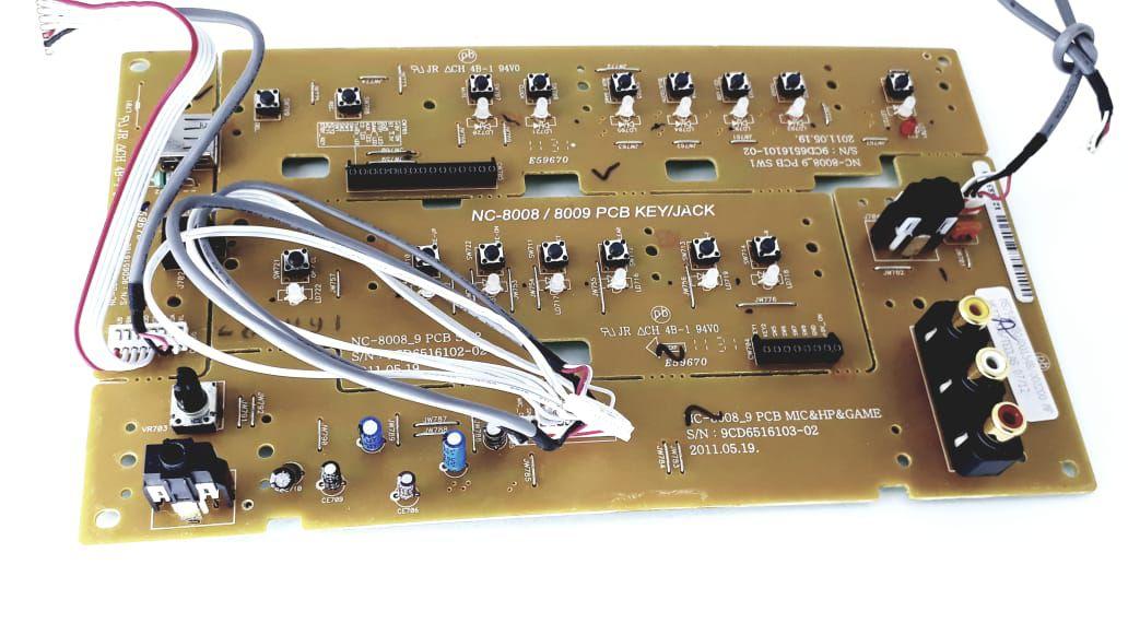Placa das teclas para Aparelho da Semp Toshiba modelo MS7945MU MS7980MU