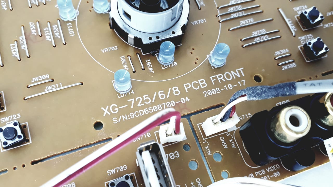 Placa Frontal de comando para rádio da Marca Semp Toshiba modelo  MS7725MU