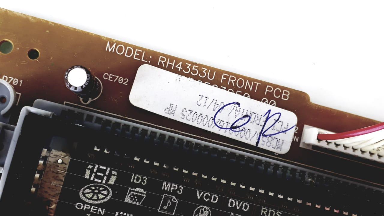 Placa Frontal Completa para Micro System da Marca Semp Toshiba modelo  MC855MP3