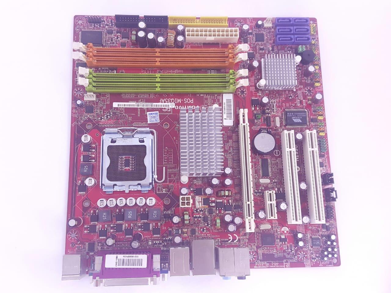 Placa mãe DDR 2 POS- MIQ 35 A 775 Positivo MSI