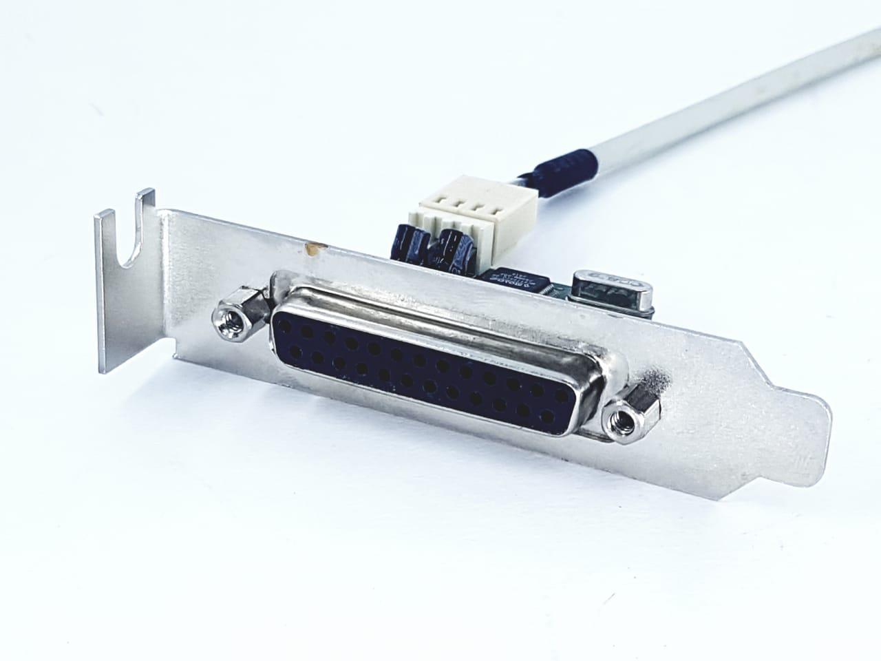 Placa Paralela Para Impressora + Cabo 30cm Perfil Baixo 8cm