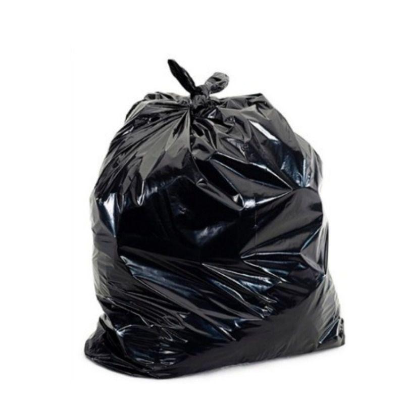 Saco de Lixo Plástico Preto 40 Litros com 100 Unidades Limpeza
