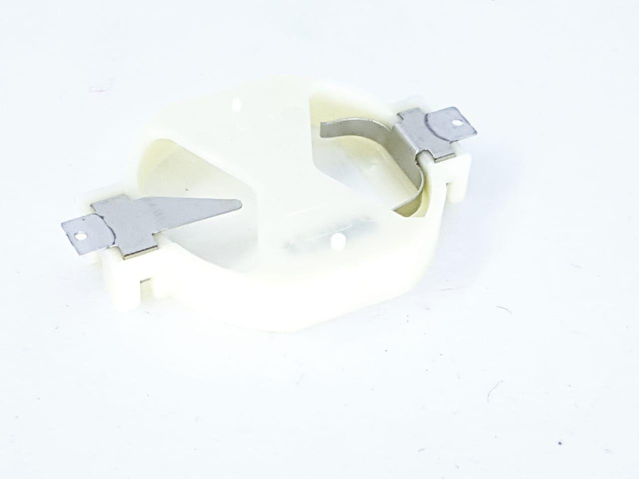 Soquete SMD de Plástico para bateria CR2032