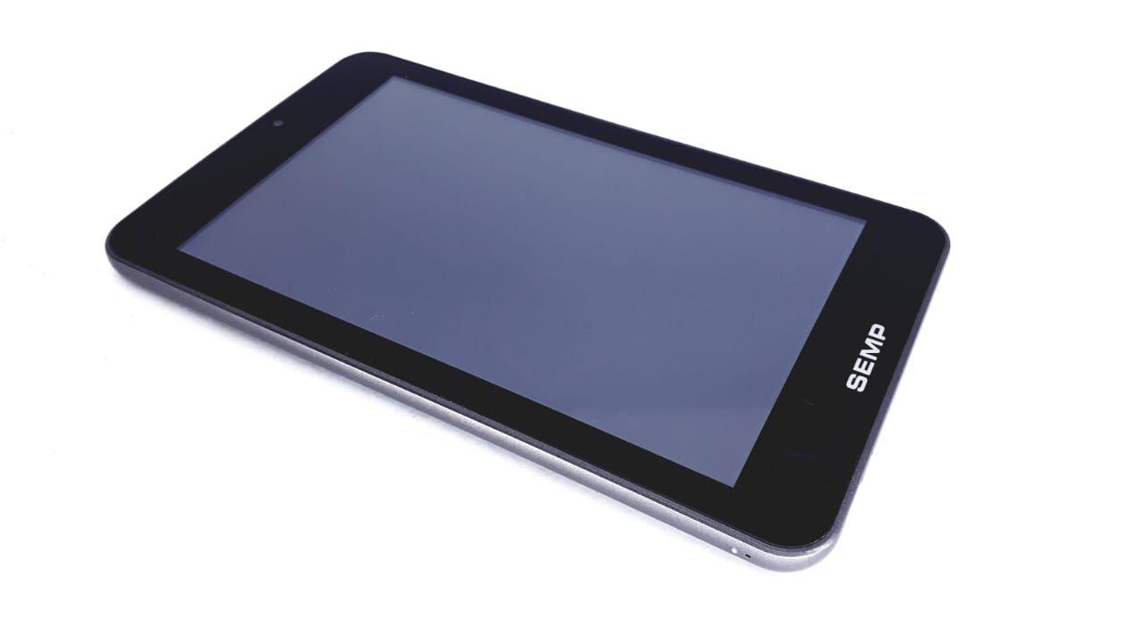 Tela Touch + Painel frontal para Tablet da marca Semp Toshiba cor Cinza modelo TA0705 de 7 polegadas Original