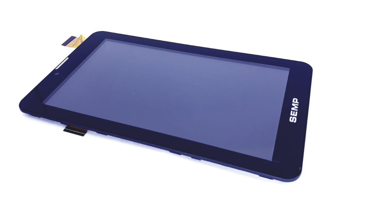Tela Touch + Painel frontal para Tablet da marca Semp Toshiba preto modelo TA0709GP de 7 polegadas Original