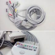 Cabo de ECG do Paciente Wincardio 10 Vias USB - Micromed