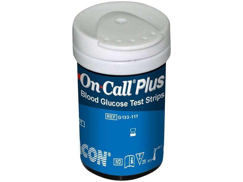 50 Tiras Reagentes para Monitor de Glicemia - On Call Plus