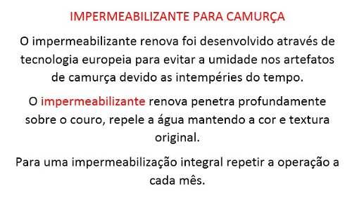 Impermeabilizante Para Couro, Camurça E Nobuck - 1540