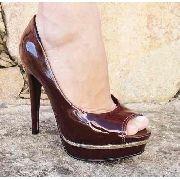 Sapato Peep Toe Crysalis Salto 12,5cm - 50923917
