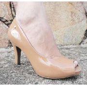 Sapato Peep Toe Usaflex Salto 8,5 Cm Verniz - T5902