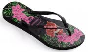 Chinelo Havaianas Borracha Slim Floral - 1082A
