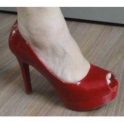 Peep Toe Mariotta Salto 12,5cm Verniz - 12025