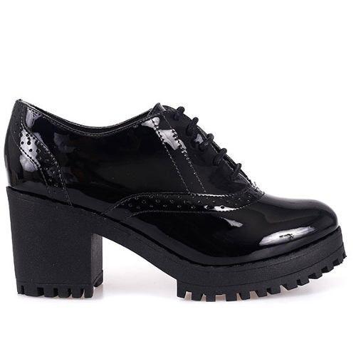 Sapato Bebece Oxford Salto Tratorado 7,5 Cm - 5614429