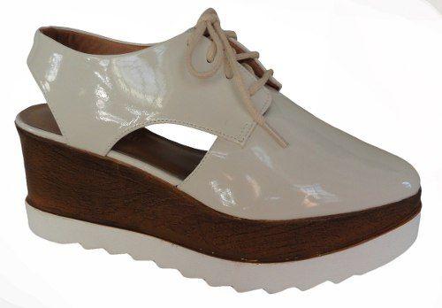 Sapato Flat Form Di Cristalli Salto 7,4 Cm - 2537843