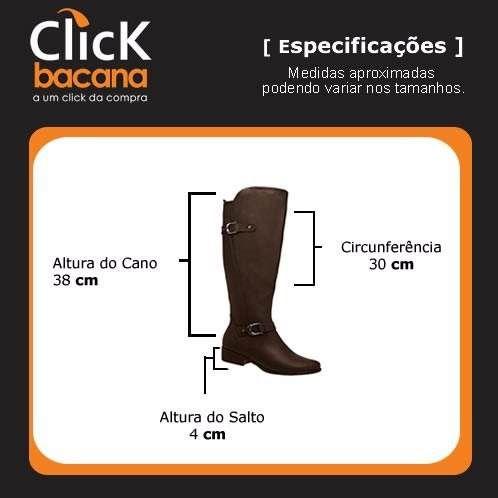 Bota Piccadilly Montaria Salto 4 Cm Conforto - 650034