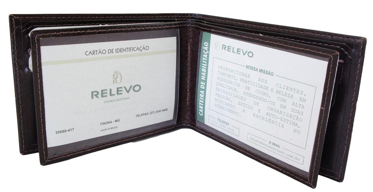 Carteira Relevo Porta Documento Couro - 1159