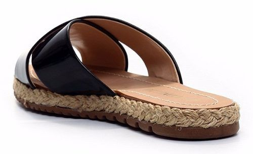 Chinelo Cecconello Flat Form Verniz Linha - 997001