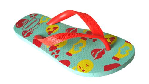 Chinelo Havaianas Borracha Color Silk - 10168