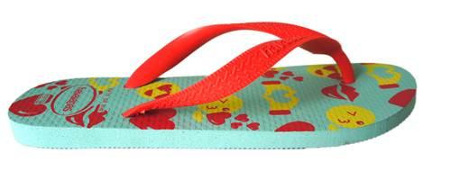 Chinelo Havaianas Borracha Color Silk - 10168