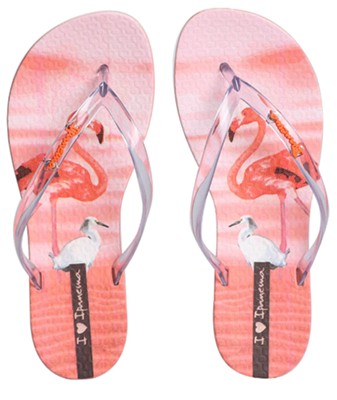 Chinelo Ipanema Feminino Wave Natural Flamingo - 26426