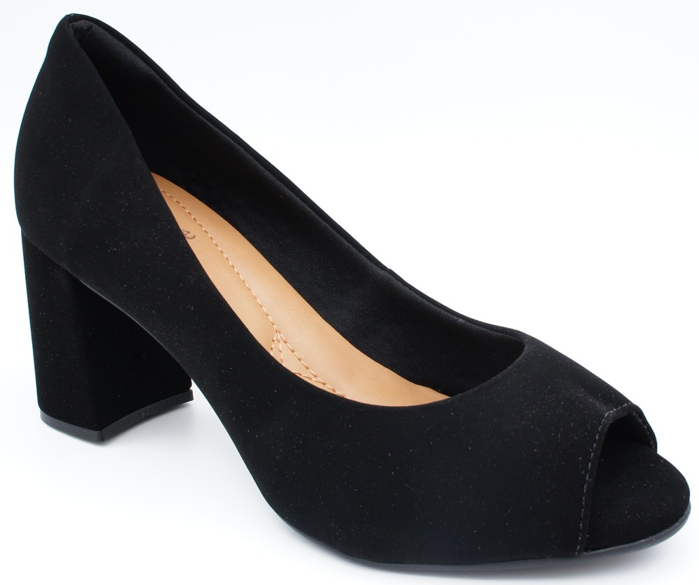 Peep Toe Bebece Salto 7 Cm Grosso - OUT6013544