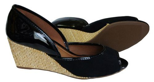 Peep Toe Flor Do Mar Salto 6,8 Cm Ana Bela - Ad441573
