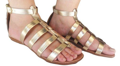 Sandalia Andrax Gladiadora Feminino Rasteira - 180p
