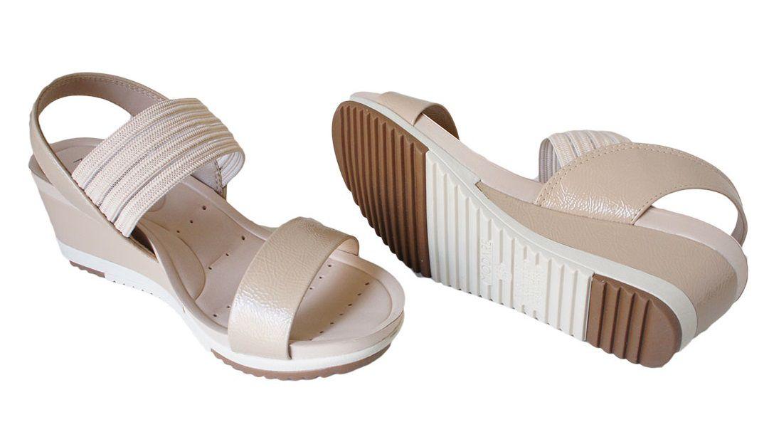 Sandalia Modare Salto 5 Cm Anabela Elastico - 7123107