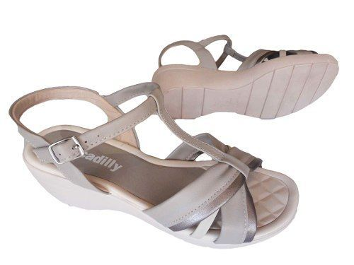 Sandalia Piccadilly Confort Salto Anabela 4 Cm - 540175