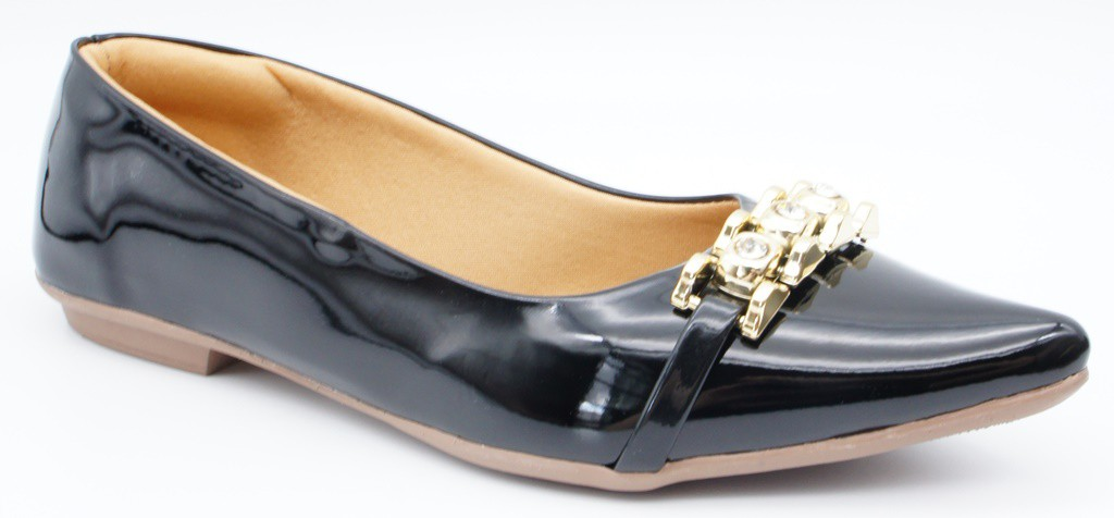 Sapatilha Love Shoes Fivela 3 Pedras - LO1990