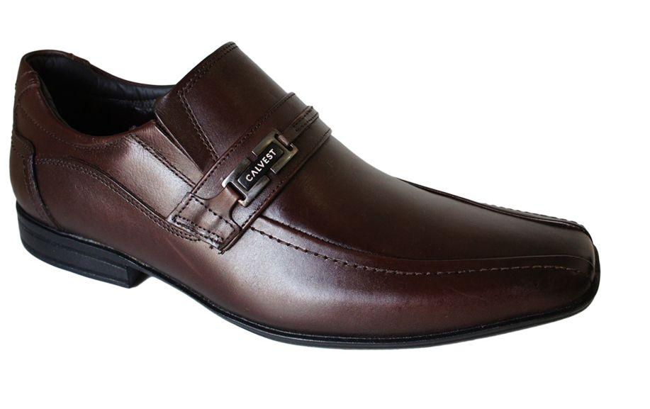567102f9e Sapato Calvest Social Fivela Liso - 2300C352 - Celeste Calçados