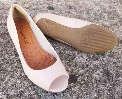 Sapato Peep Toe Bebece Salto Embutido 3 Cm - 2581101
