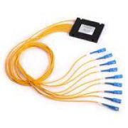 PLC Splitter Fibra Óptica 1x8 1.5m SC/UPC - caixa em ABS