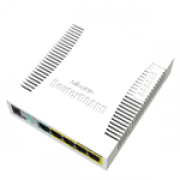 Switch Mikrotik RB260GSP 05 portas gigabit (04 PoE) + 1 SFP