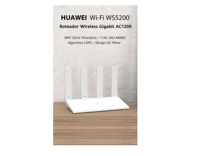 HUAWEI WI-FI WS5200 ROTEADOR WIRELESS GIGABIT AC1200 WIFI 5GHZ