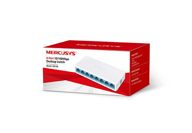 Switch Mercusys MS108 (EU) 10/100Mbps 8 PORTAS
