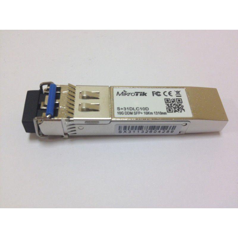 MIKROTIK MODULO FIBRA S+31DLC10D SFP 10G SM 1310NM